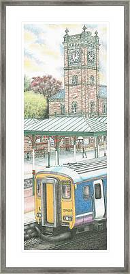 Ulverston Railway Station Clock Framed Print by Sandra Moore