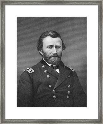 Ulysses Simpson Grant Framed Print by Matthew Brady