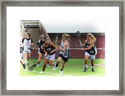 Umass Lax Practice Framed Print by Mike Martin