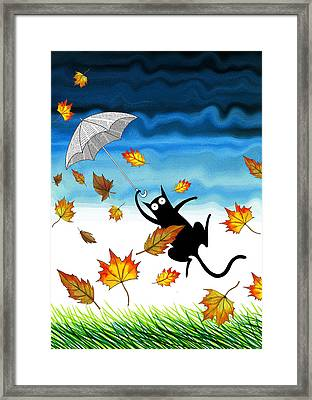 Umbrella Framed Print by Andrew Hitchen