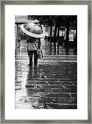 Umbrella Salesman Framed Print by HD Connelly
