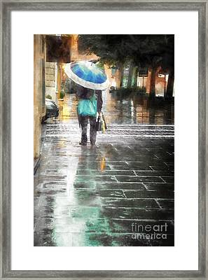 Umbrella Seller Framed Print by HD Connelly
