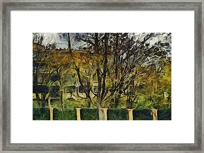 Un Cheteau Dans Le Paradis - One Of Two  Framed Print by Sir Josef Social Critic - ART