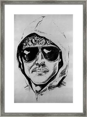 Unabomber Ted Kaczynski Police Sketch 1 Framed Print by Tony Rubino