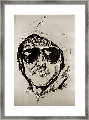 Unabomber Ted Kaczynski Police Sketch 2 Framed Print by Tony Rubino