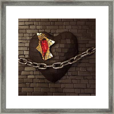 Unchain My Heart Framed Print by Julie Mazzoni