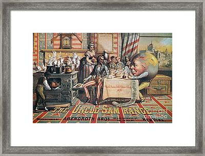 Uncle Sam Range Ad, 1876 Framed Print by Granger