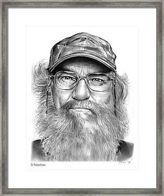 Uncle Si Framed Print by Greg Joens