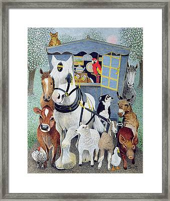 Uncle Tom Cobbley And All Framed Print by Pat Scott