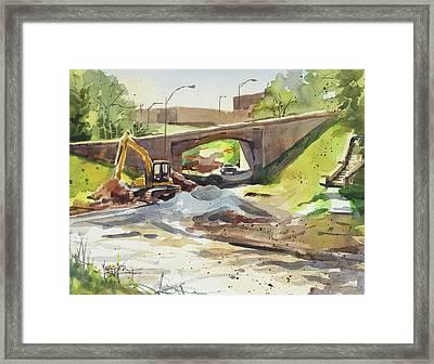 Under Construction Framed Print by Spencer Meagher