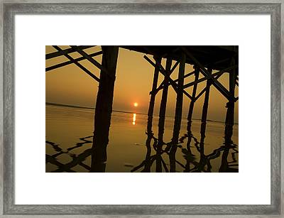 Under The Boardwalk Framed Print by Tom Rickborn