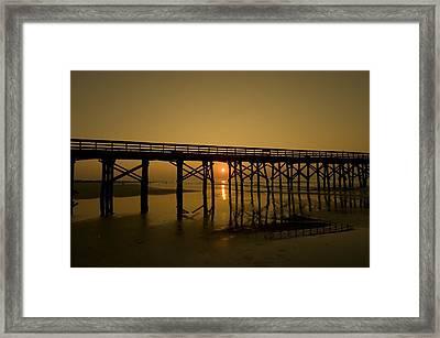 Under The Boardwalk2 Framed Print by Tom Rickborn