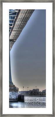 Under The Bridge 3 Piece - Part 3 - Ben Franklin, Philadelphia Framed Print by Mark Ayzenberg