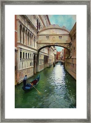Under The Bridge Of Sighs Framed Print by Jeff Kolker