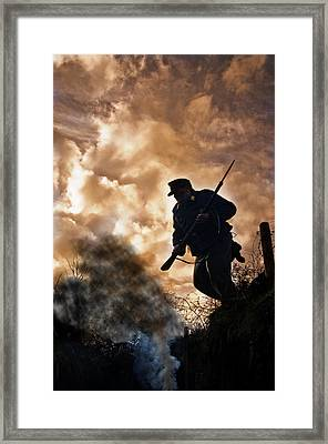 Under The Burning Sky Framed Print by Mark H Roberts