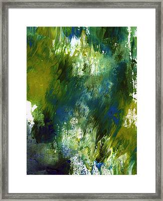 Under The Canopy- Abstract Art By Linda Woods Framed Print by Linda Woods