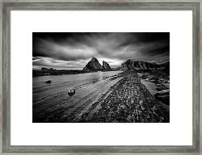 The Man Under The Clouds Framed Print by Dominique Dubied