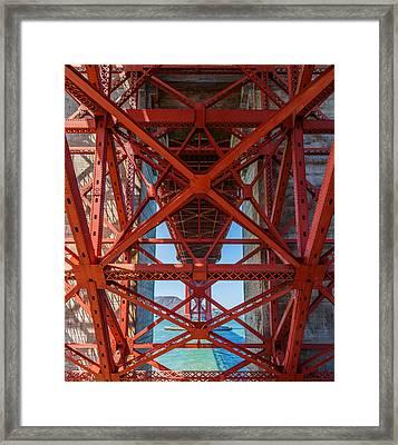 Under The Golden Gate Bridge Framed Print by Sarit Sotangkur