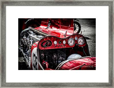 Under The Hood Framed Print by Adrian Evans
