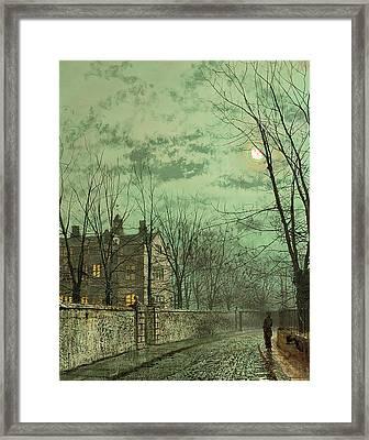 Under The Moonbeams Framed Print by John Atkinson Grimshaw