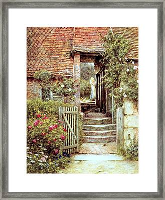 Under The Old Malthouse Hambledon Surrey Framed Print by Helen Allingham