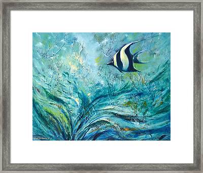 Under The Sea 9 Framed Print by Gina De Gorna