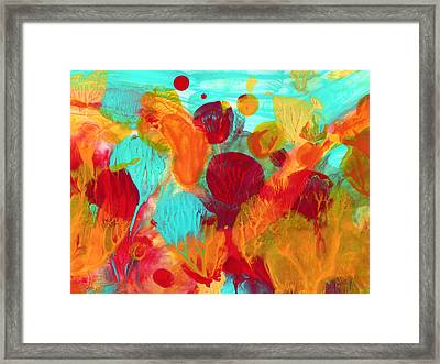 Under The Sea Abstract 1 Framed Print by Amy Vangsgard