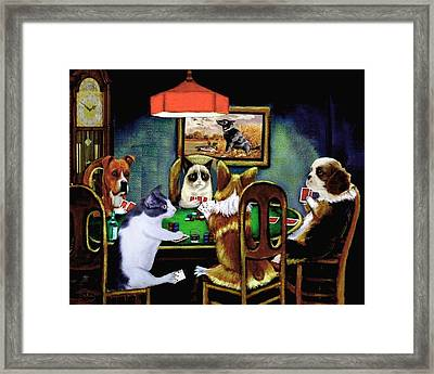 Under The Table Framed Print by Ron Chambers
