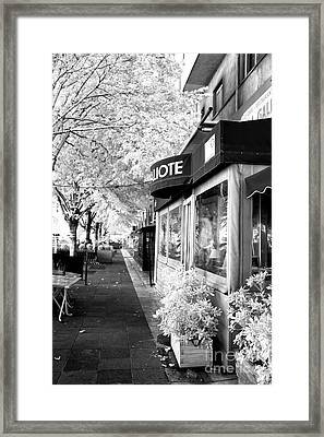 Under The Tree In Marseille Framed Print by John Rizzuto