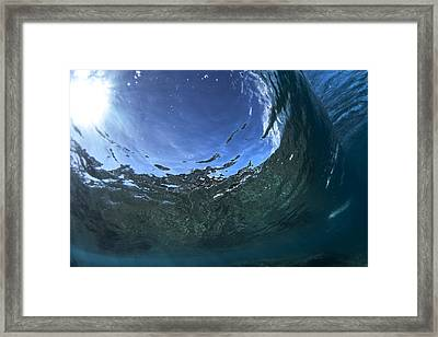 Under Water Tube  -  Part 1 Of 3 Framed Print by Sean Davey