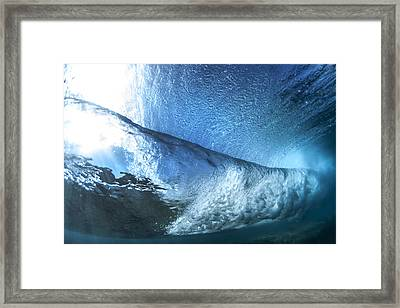Under Water Tube  -  Part 3 Of 3 Framed Print by Sean Davey
