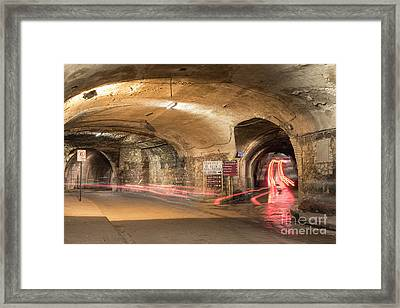 Underground Tunnels In Guanajuato, Mexico Framed Print by Juli Scalzi