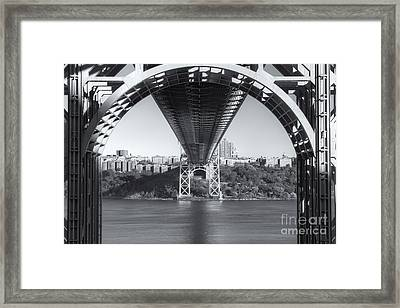Underneath The George Washington Bridge IIi Framed Print by Clarence Holmes