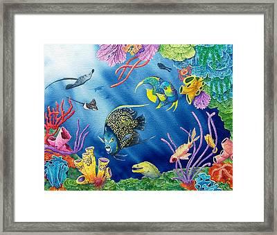Undersea Garden Framed Print by Gale Cochran-Smith