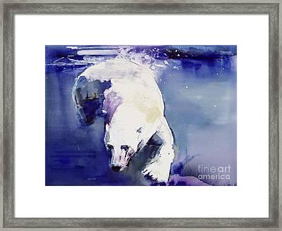 Underwater Bear Framed Print by Mark Adlington