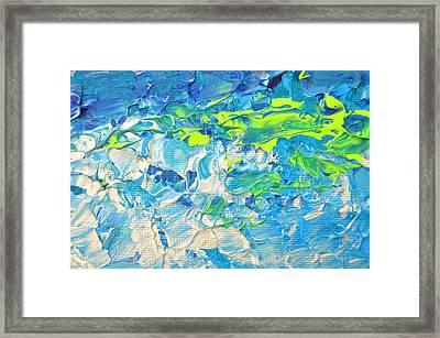 Underwater Wave Framed Print by Adriana Dziuba