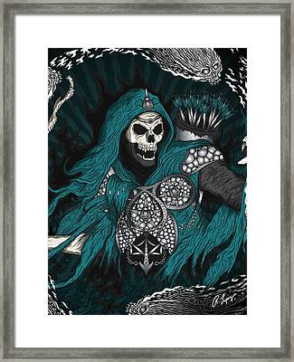 Framed Print featuring the drawing Underworld Archer Of Death by Raphael Lopez