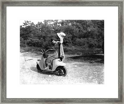 Unibus Scooter Framed Print by Central Press