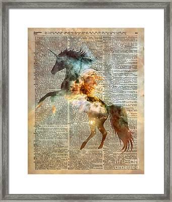 Unicorn Carina Nebula Framed Print by Jacob Kuch