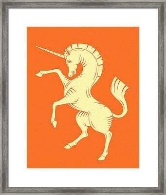 Unicorn Framed Print by Jazzberry Blue