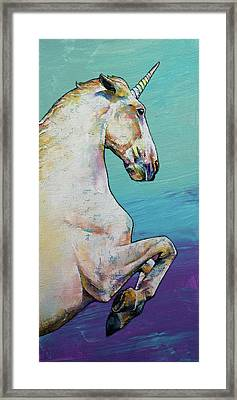 Unicorn Framed Print by Michael Creese