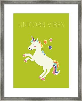 Unicorn Vibes Framed Print by Nicole Wilson