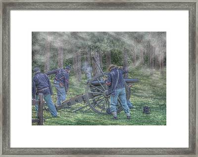 Union Civil War Cannon Framed Print by Randy Steele