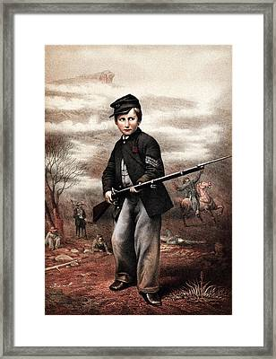 Union Drummer Boy John Clem Framed Print by War Is Hell Store