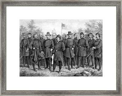 Union Generals Of The Civil War  Framed Print by War Is Hell Store