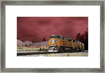 Union Pacific 8533 Framed Print by Donna Kennedy