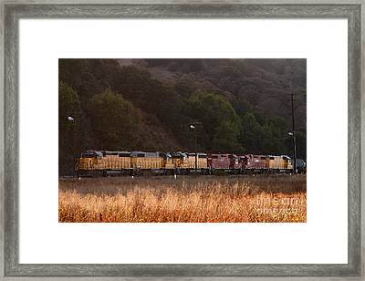 Union Pacific Locomotive Trains . 7d10551 Framed Print by Wingsdomain Art and Photography