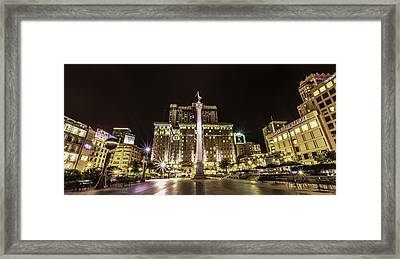 Union Square Framed Print by Phil Fitzgerald