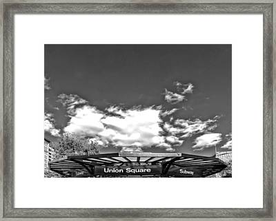 Union Square Subway Station Nyc Framed Print by Robert Ullmann