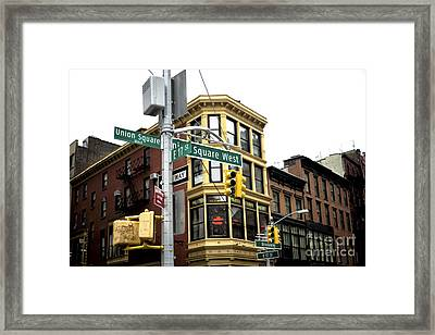 Union Square West Framed Print by John Rizzuto